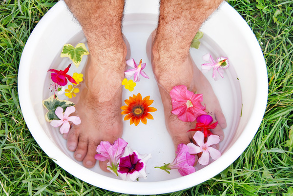 Obviously male feet in a basin symbolizes the rise of the Male Pedicure