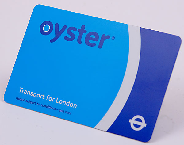 An Oyster Card for the London Underground can be worked into a manicure