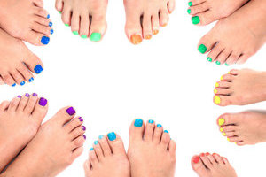 Made in the Shade: Binh's has a huge selection of hues to solve your pedicure blues